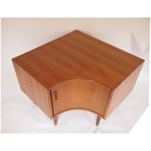 Encoignure, meuble tv d'angle vintage scandinave