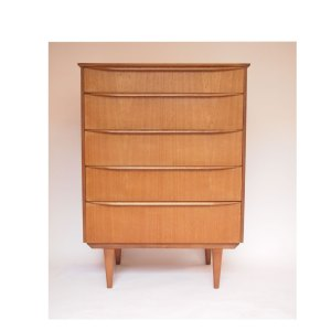 Commode scandinave vintage 5 tiroirs