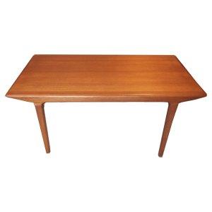 Table de salle à manger scandinave danoise vintage 50 60, grande extension sur le côté