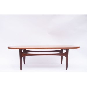 Longue Table basse basse ovale scandinave vintage