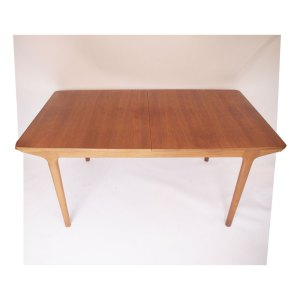 Table de salle à manger Mcintosh, double allonge « papillon » vintage scandinave