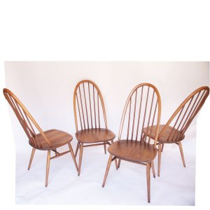 Lot 4 chaises Ercol vintage