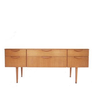 Enfilade commode 6 tiroirs scandinave vintage #231