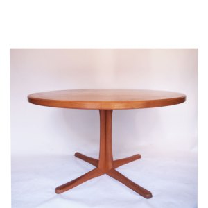 Table ronde scandinave danoise Rosengaarden vintage, pied central
