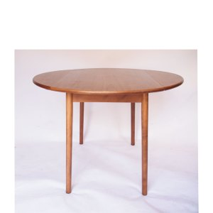 Table ronde pliante console à 2 abattants vintage scandinave