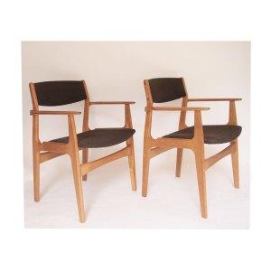 2 chaises scandinave vintage danoises Erik Buch, Nova Mobler