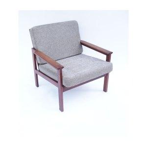 2 fauteuils scandinave vintage danois gris chiné