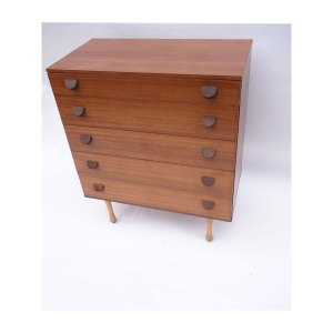 Commode scandinave vintage 5 tiroirs #622