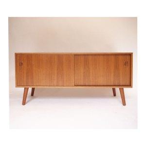 Enfilade scandinave vintage, meuble vinyles #3226