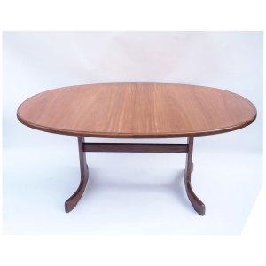 Table de salle à manger ou de réunion vintage scandinave, une rallonge papillon
