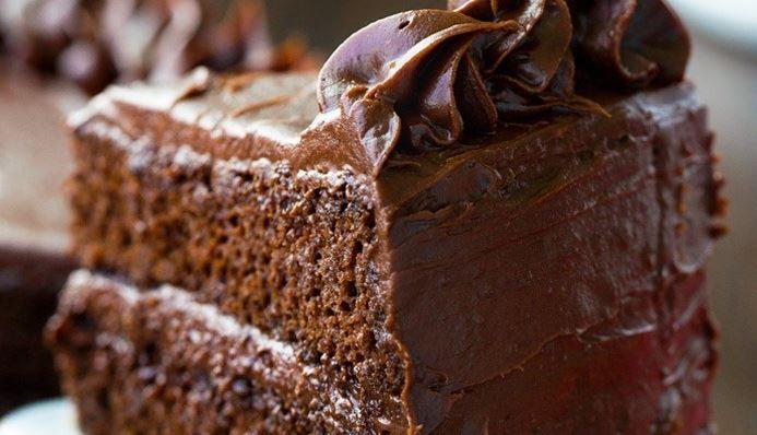 Chokolade-Valnødder Kage