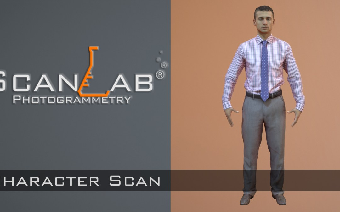 3D Scan of a Business Man