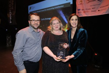 Zach Willis (Ka-Boom), Carla Stronge and Bronagh Waugh - RTS NI Awards 2018