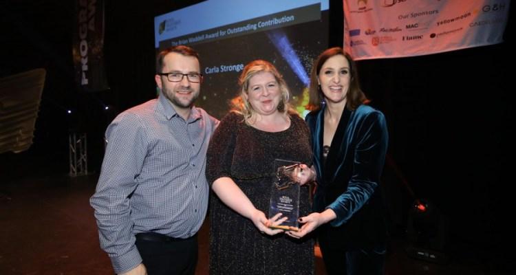 Zach Willis (Ka-Boom), Carla Stronge and Bronagh Waugh - RTS NI Awards 2018