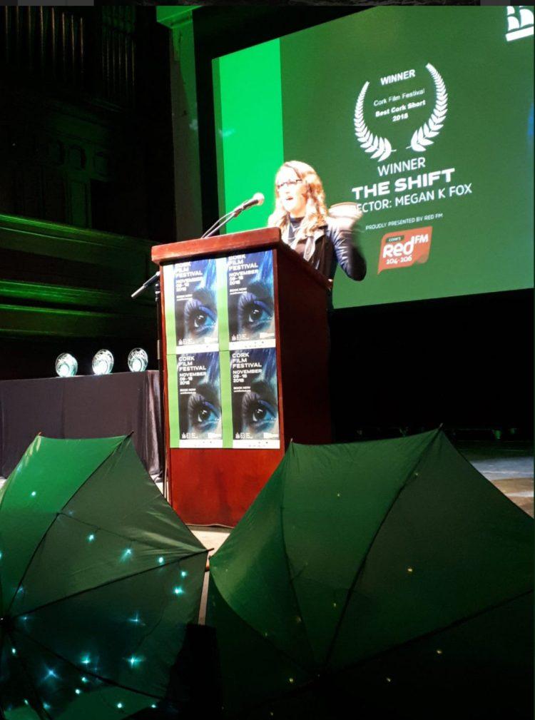 Shift director Megan K Fox,  winner of the Best Cork Short