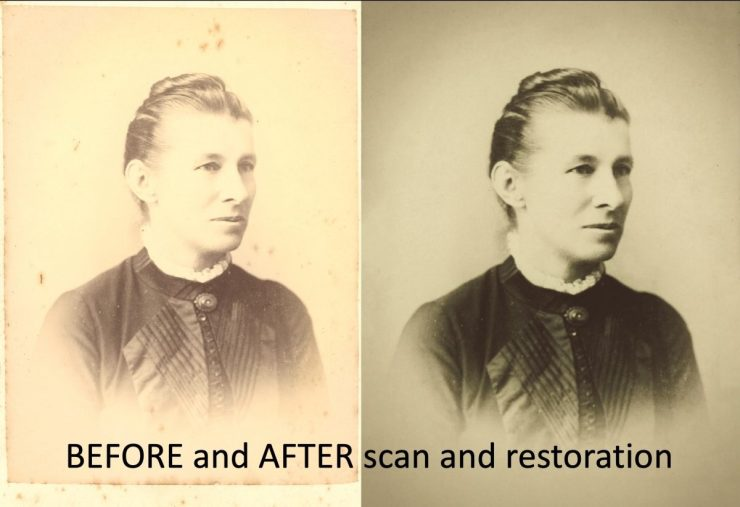 before and after scan and restoration