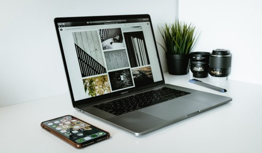 home office using cloud storage for photos