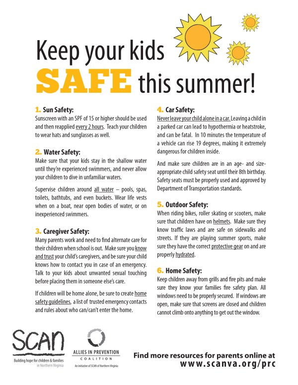 Summer Safety Resources CONNECTIONS