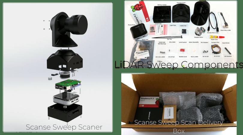 Sweep DIY 3d Scanner Kit - Scanse