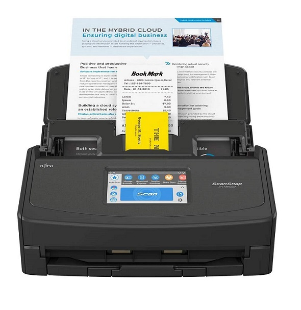 Fujitsu ScanSnap iX1500 - The most full-featured, fastest Document scanner, and highest quality model we've tested at scanse