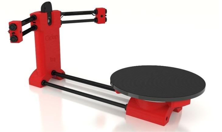 Reprap Ciclop 3d scanner DIY kit open source for 3D Printing