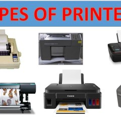 Types of Printers Laser printer inkjet printer thermal printer dotmatrix printer led printer