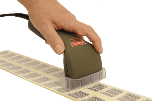 The Axicon 6025-S barcode verifier grades 1D barcodes to GS1 standards