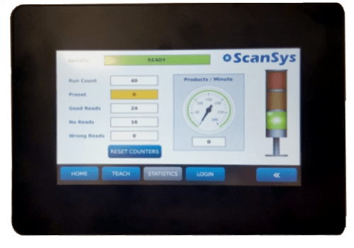 QV400 barcode validation system.  100% inline barcode inspection.