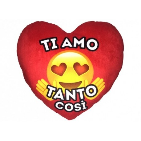 Emoticon Cuscino peluche Cuore EMOTICON TI AMO TANTO COSI