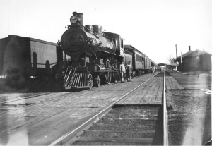Train at Scarborugh Beach Station, ca. 1900