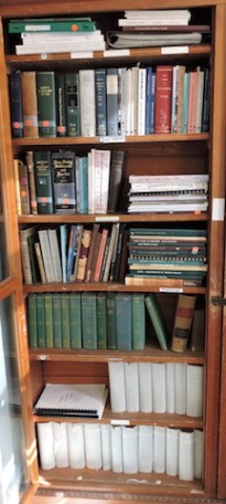 Photo of the left side of Bookcase 1