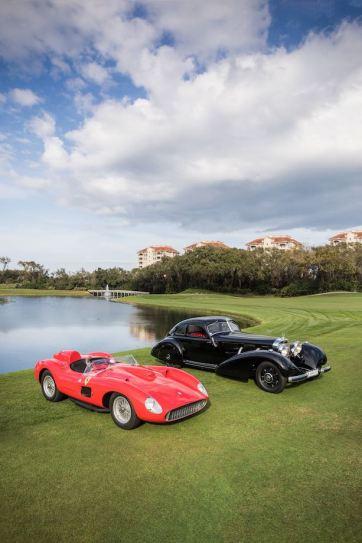 1957 Ferrari 335 S and 1938 Mercedes-Benz 540K Autobahn-Kurier
