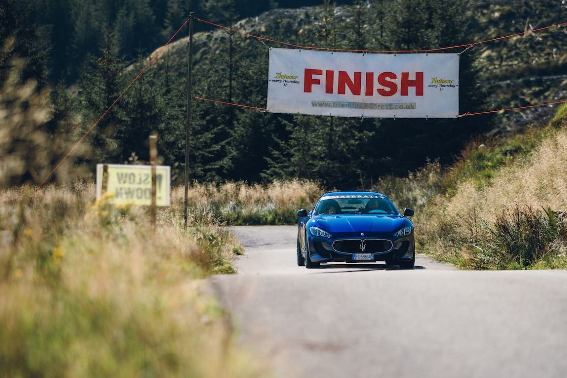 Maserati GranTurismo on the Rest and Be Thankful Hill Climb