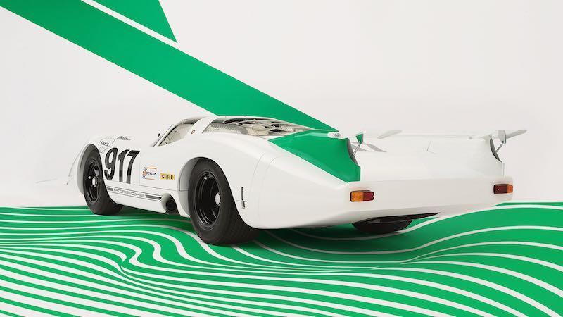 Porsche 917-001 with green and white colour scheme