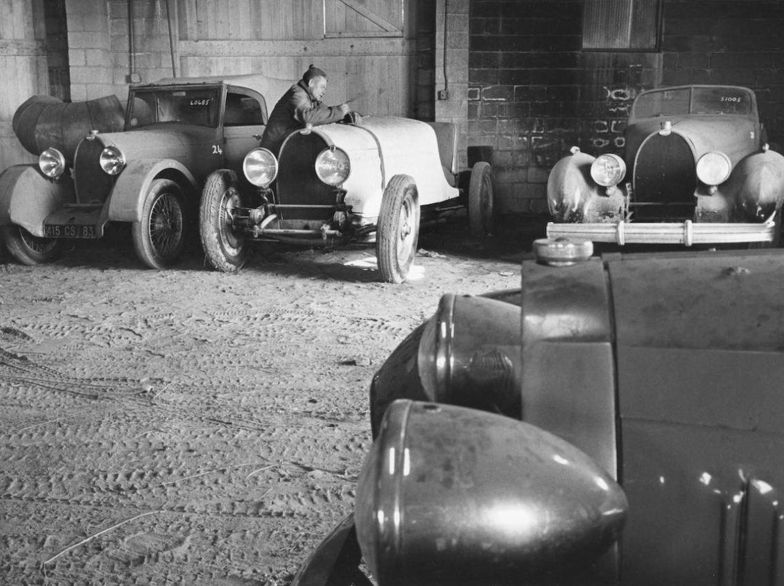 John Shakespeare Bugatti garage