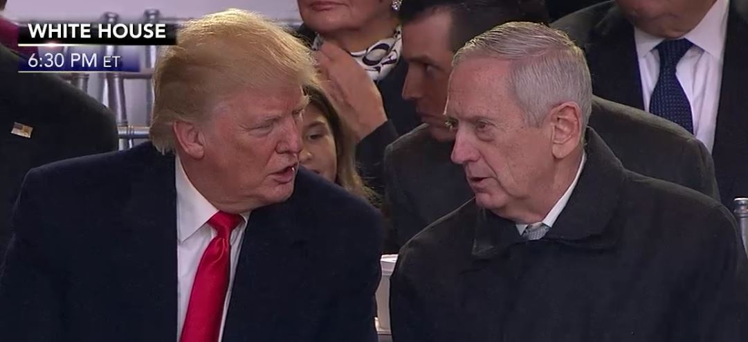 Image result for PHOTOS OF TRUMP AND MATTIS
