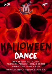 College Halloween Dance Flyer
