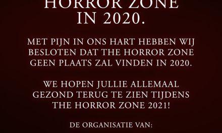 The Horror Zone 2020 gaat niet door