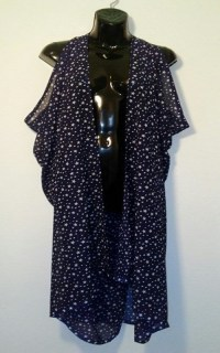 Scarf Vest - Navy and White Stars - Scarf Art