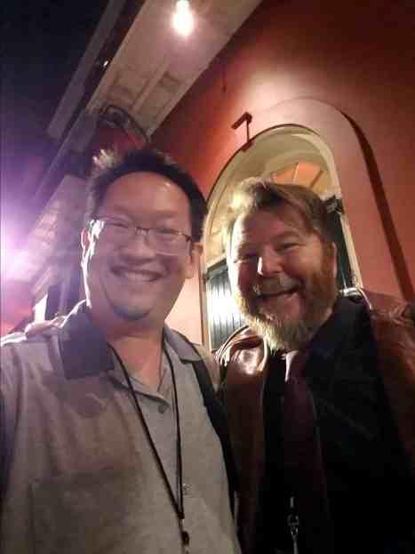 Eric, and Blood Fest's energetic director Owen Egerton