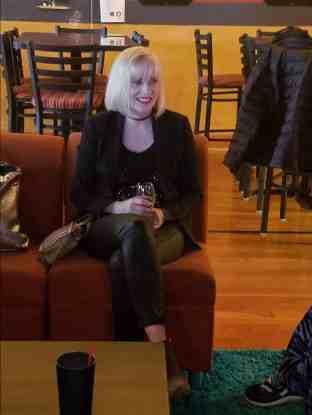 Barabar Crampton at the Fan Q&A at the Portland Horror Film Festival