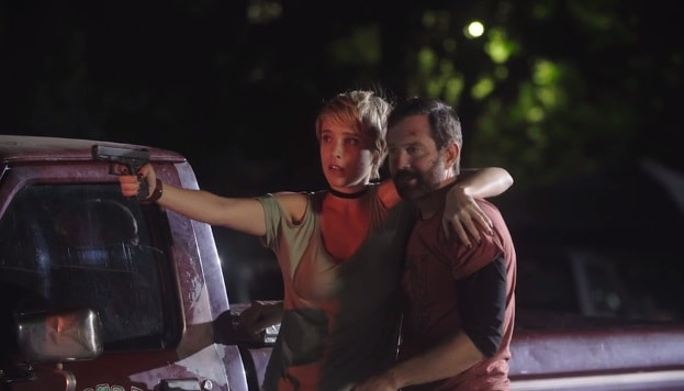 Tommy Lennon and Jenny Pellicer in Puppet Master: The Littlest Reich