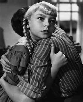 Patty McCormack is the dastardly Rhoda in The Bad Seed