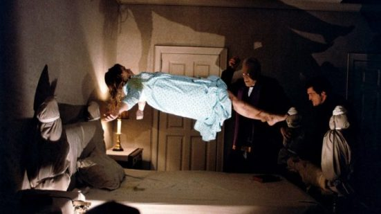 Linda Blair, Max Von Sydow and Jason Miller in The Exorcist (1972)