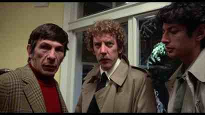Leonard Nimoy, Donald Sutherland, and Jeff Goldblum in Invasion of the Body Snatchers (1977)