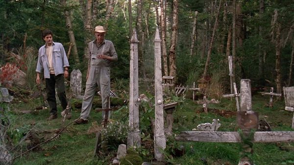 Fred Gwynne and Dale Midkiff go to a place they really shouldn't be visiting in Pet Semetary (1989)