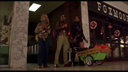 Gaylen Ross, David Emge, Ken Foree, and Scott Reiniger in Dawn of the Dead