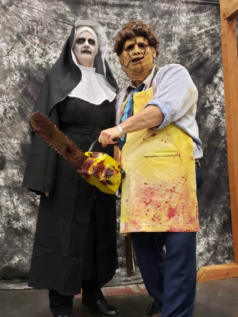 Lee and Brandy, doing Horror Cosplay for a good cause!