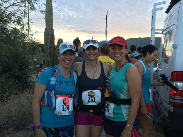 Lori, Elise, and me before the race.