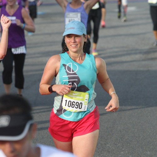 The only decent race photo of me in existence.